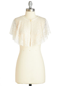 Kissed by Lace Capelet in Ivory