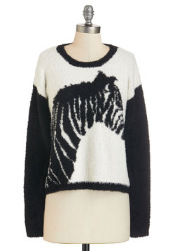As Far as I Can Zebra Sweater
