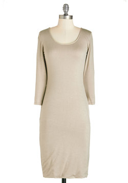 Bold and Neutral Dress