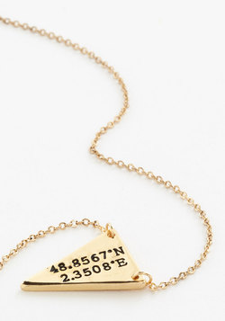 No Ordinary Coordinates Necklace in Paris