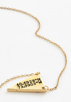 No Ordinary Coordinates Necklace in Brooklyn