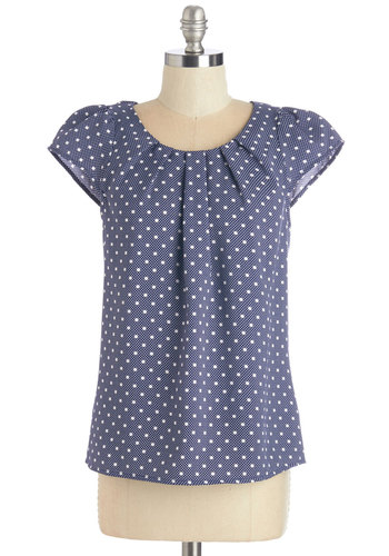 Steal the Show Top in Blue Dots