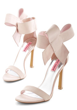 Betsey Johnson Kick it Up a Posh Heel in Petal