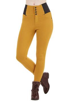 Carefree Crescendo Pants in Goldenrod