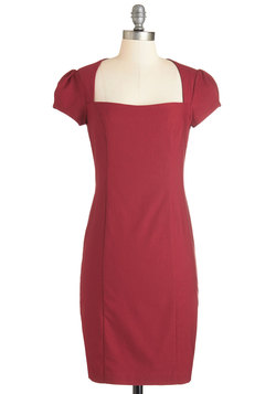 Sleek it Out Dress in Crimson