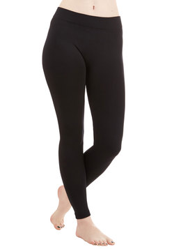 Warming Noon and Night Leggings in Black