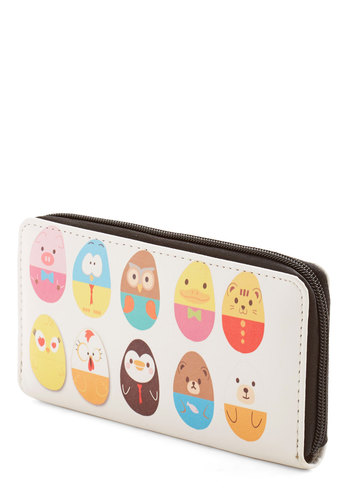 Too Cute for Herds Wallet - Multi, Kawaii, Quirky, Darling, Critters, Faux Leather, Novelty Print, Woodland Creature, Owls
