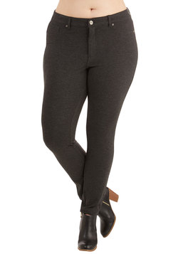 Tour Couture Pants in Charcoal - Plus Size