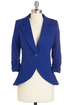 Fine and Sandy Blazer in Royal Blue