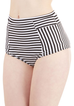 Sunbathing in Stripes Swimsuit Bottom