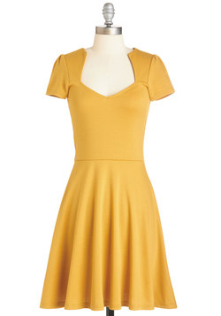 Ooh La La Lady Dress in Sunflower