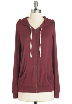 Layers Well with Others Hoodie in Burgundy