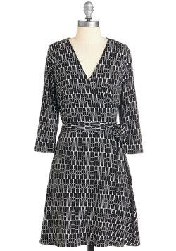 Wrap of Luxury Dress in Monochrome