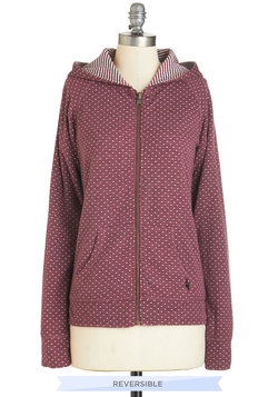 See Ya On the Flip Side Reversible Hoodie in Plum