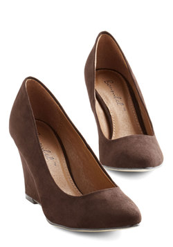 All Work and Go Play Wedge in Brown