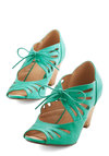 Lace Me Up Before You Go-Go Heel in Jade