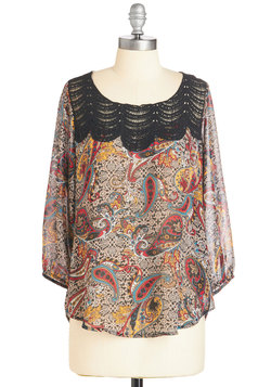 Operetta Audition Top in Paisley