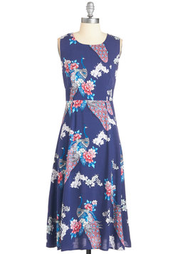 Peaceful Perfection Dress in Peacocks