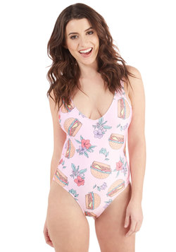 Breeze Burger in Paradise One-Piece Swimsuit