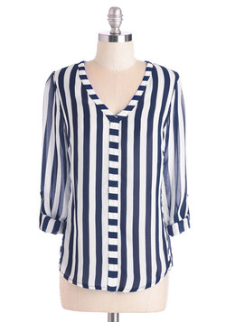 Awe-Inspiring Assistant Top in Stripes