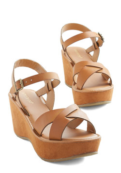 Wear It Well Wedge in Cognac