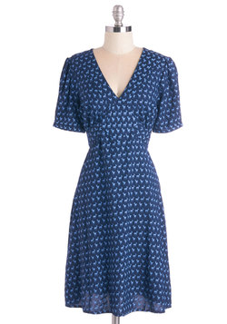 Saturday Best Dress in Navy Deer