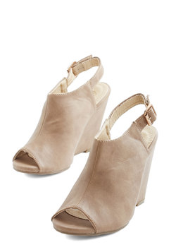 From Far and Stride Wedge in Taupe