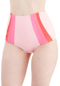 Raise the Barometer Swimsuit Bottom in Hibiscus
