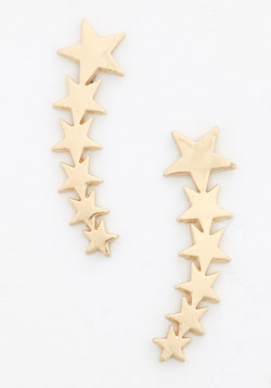 Star Flight, Star Bright Earrings in Gold