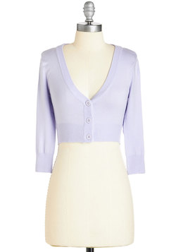 The Dream of the Crop Cardigan in Lilac