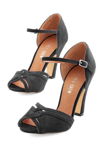 Step to the Rhythm Heel in Black