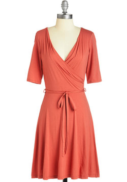 Easygoing Inspiration Dress in Coral