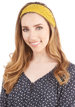 On and Coif Headband in Mustard