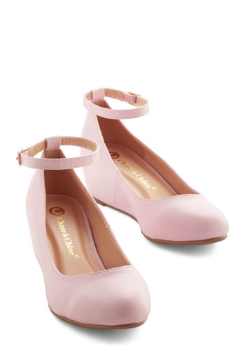 Take a Stride With Me Wedge in Petal
