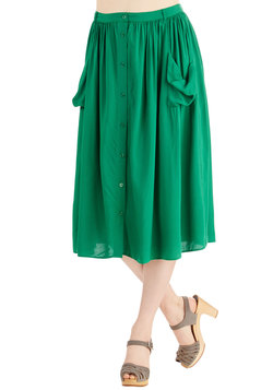 Just Dandy Skirt in Green