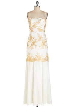 Golden Twirls Dress