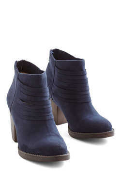 Life Is Strut a Dream Bootie in Navy