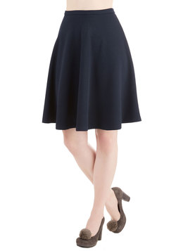 En Pointe Accompanist Skirt in Textured Navy