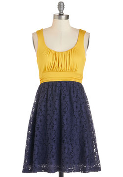 Artisan Iced Tea Dress in Lemon-Blueberry