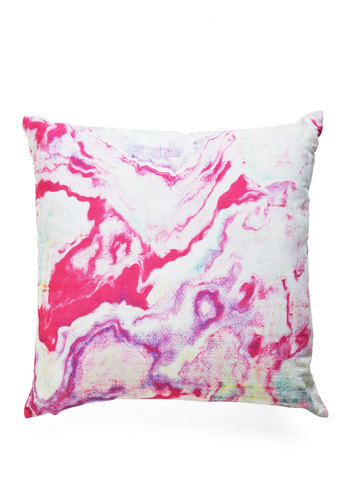 Take Nothing for Granite Pillow in Pink