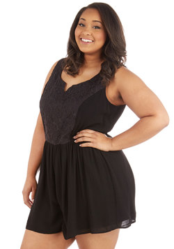 Get Your Chic On Romper in Plus Size