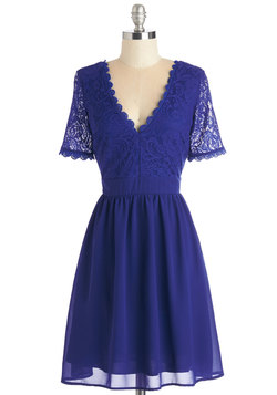 Craft Cocktails Dress in Cobalt
