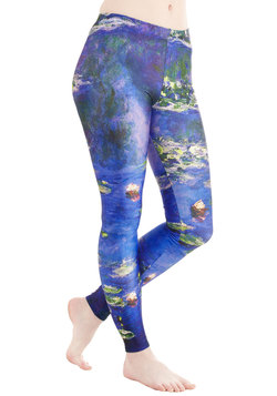 Imaginative Merriment Leggings in Water Lilies
