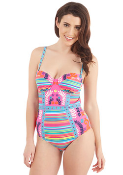 Nanette Lepore Because I Cabana One-Piece Swimsuit