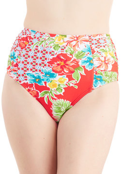 A Splashing Success Swimsuit Bottom in Red