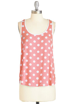 I Dot as Much! Top in Coral