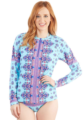 Nanette Lepore Seaside Masterpiece Rash Guard