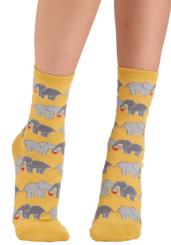 I Link I Love You Socks - Yellow, Multi, Print with Animals, Casual, Knitted, Valentine's, Best Seller, Under $20, Quirky, Critters, Top Rated