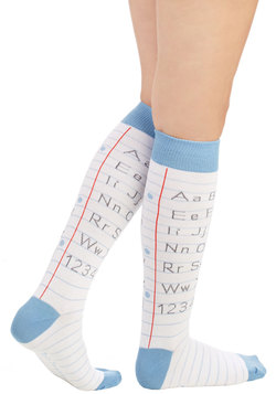 Alphabetical Border Socks