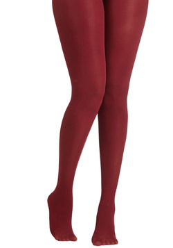 Layer It On Tights in Wine